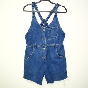 Vintage 1990s Lee Jeans Short Denim Overalls